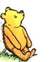 Pooh Bear doing Outcomes Thinking